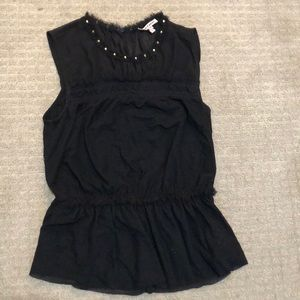 Juicy couture black sleeveless blouse